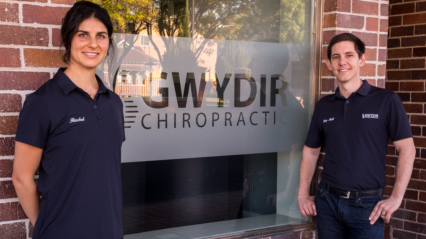 Rachel and Greg Bell introduced Gwydir Chiropratic